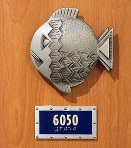 Metal Fish Extender outside Disney Cruise Stateroom