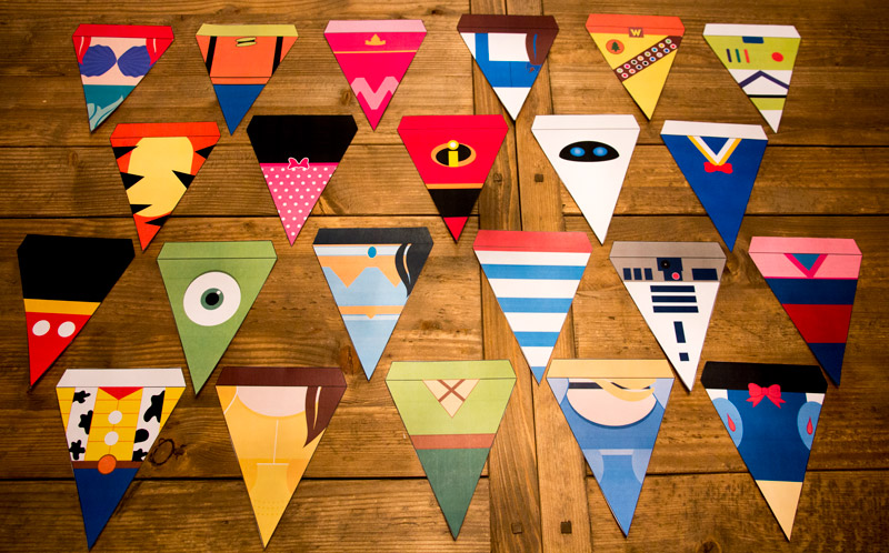 picture regarding Printable Pennants named 22 Printable Disney Pennants Banners (No cost Down load)
