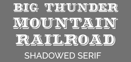 Free Big Thunder Mountain Railroad Font