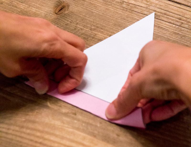 Fold top flap of Disney Pennant