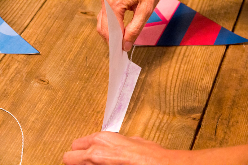 Free Disney Pennant: Glue your pennants