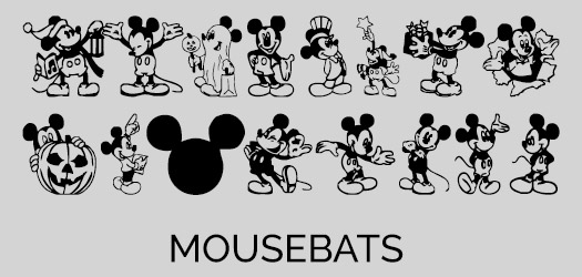 Mickey Mouse Character Font