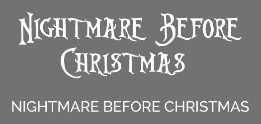 Free Nightmare Before Christmas Font