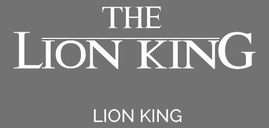 Free The Lion King Movie Font