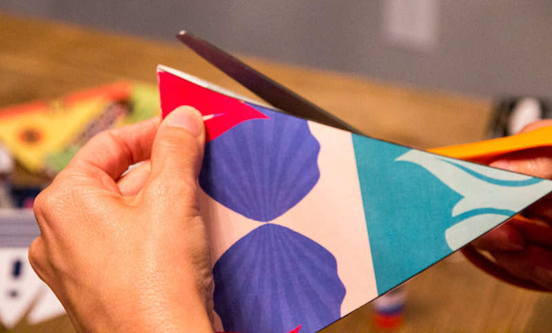 Trim up the flaps of your Disney pennats