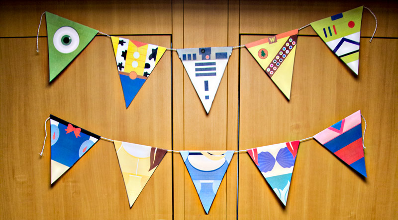 graphic regarding Printable Pennants called 22 Printable Disney Pennants Banners (Free of charge Obtain)