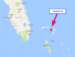 Castaway Cay on a Map