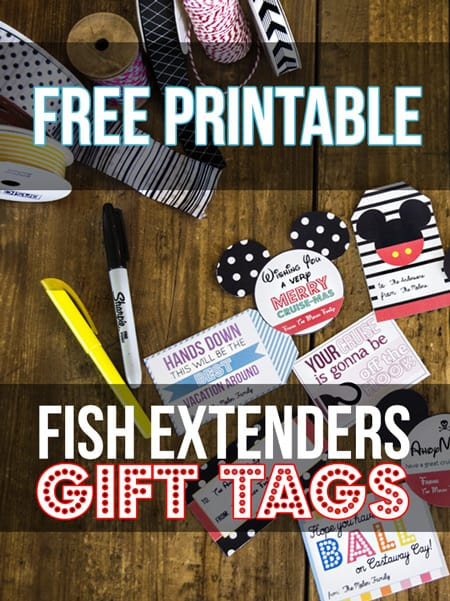 Free Fish Extender Gift Tags
