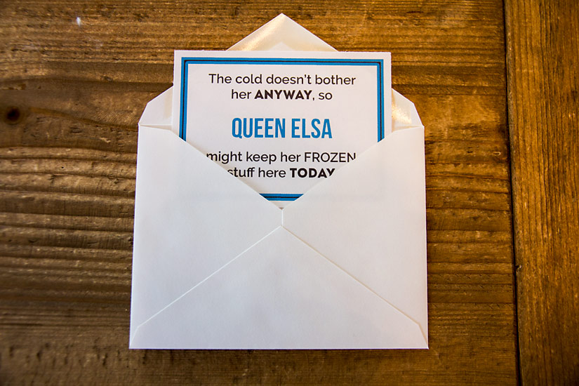 Disney Vacation Scavenger Hunt Clue in Envelope