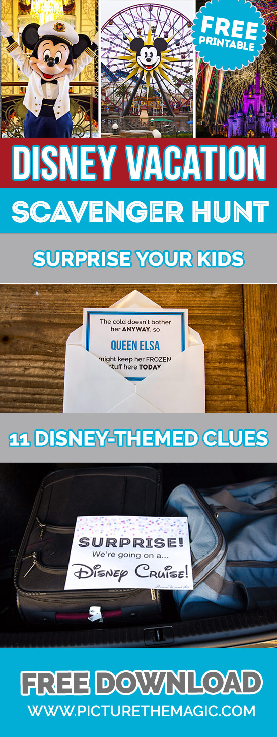Free Printable: Disney Vacation Scavenger Hunt