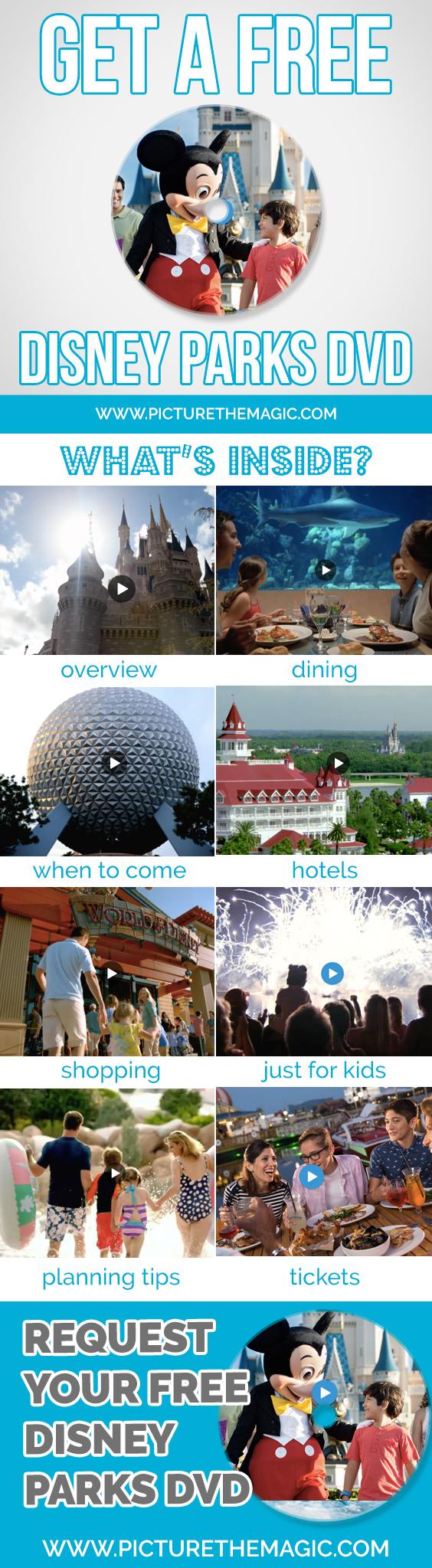 Disney Freebie: Get a free Disney Parks DVD