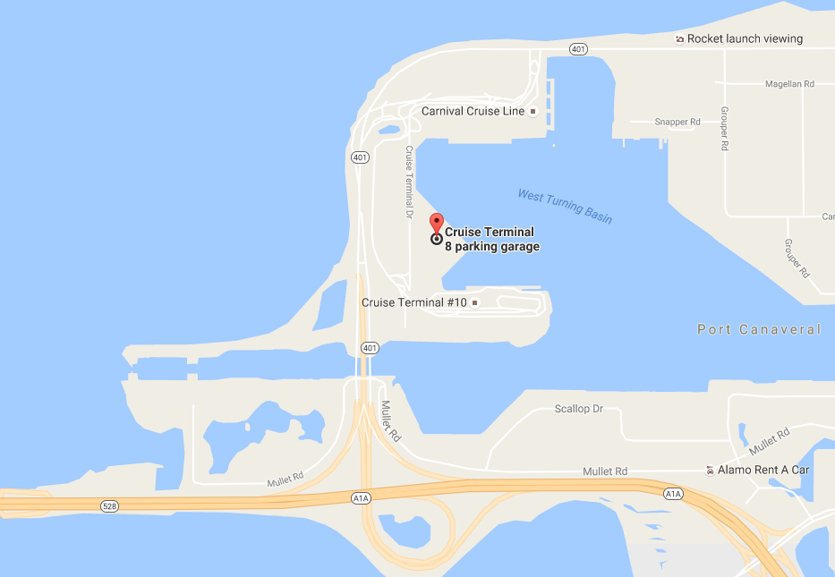 Port Canaveral Disney Cruise Terminal Map