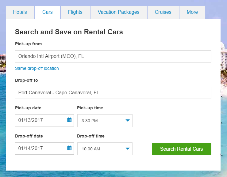 Is There A Rental Car Drop Off At Port Canaveral
