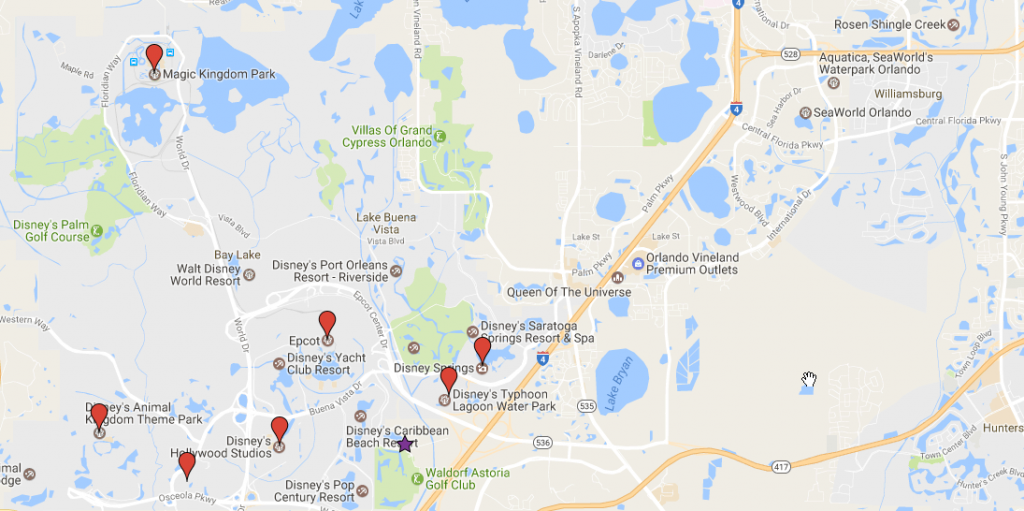 Wyndham Grand Orlando Map