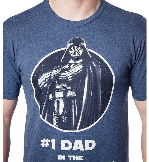 #1 Dad in Galaxy Darth Vader star wars shirts