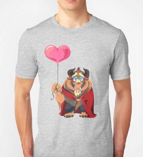 Beast and his Balloon: Beauty and the Beast shirt