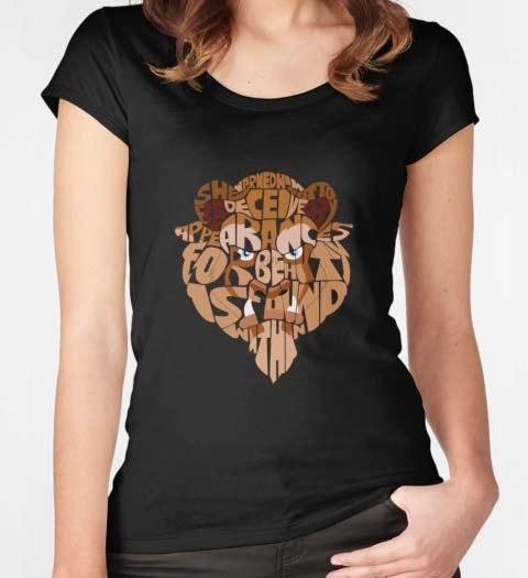 Beast Word Cloud: Beauty and the Beast Shirt