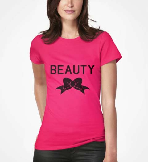 Beauty and the Beast Bow Shirt