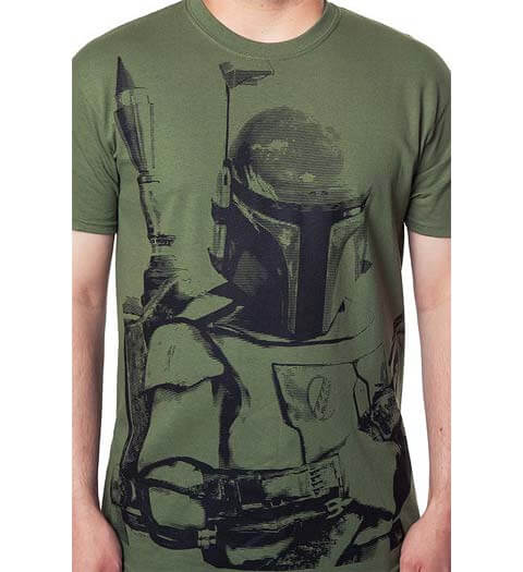 Boba Fett in Army Green: Star Wars Shirt