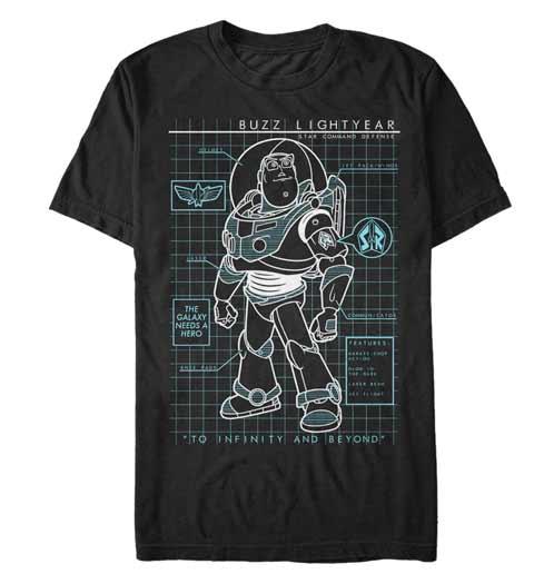 Buzz Lightyear Schematic Tshirt