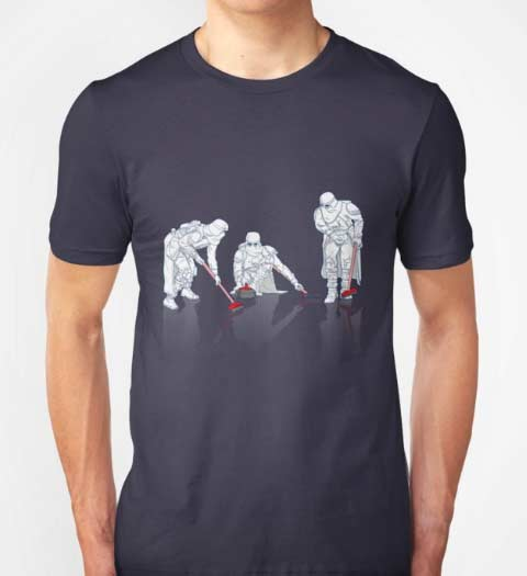 Curling Troopers! Funny Star Wars T-Shirt