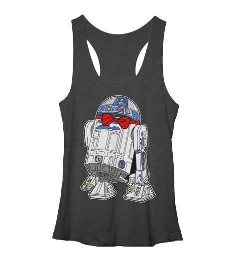 Cute & Dapper R2-D2! Star Wars Tank Top