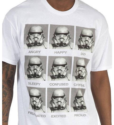 emotions stormtrooper Star Wars Shirts