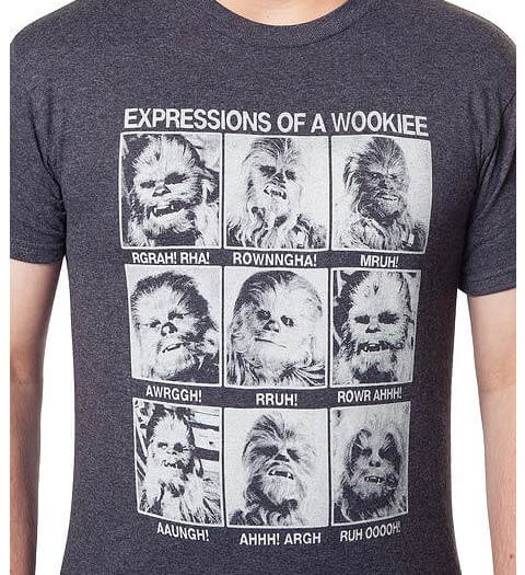 Expressions of a Wookie! Star Wars Shirt
