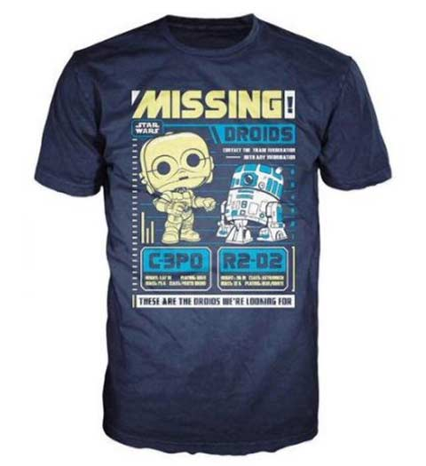 Missing Droids! Fun Star Wars T-Shirt