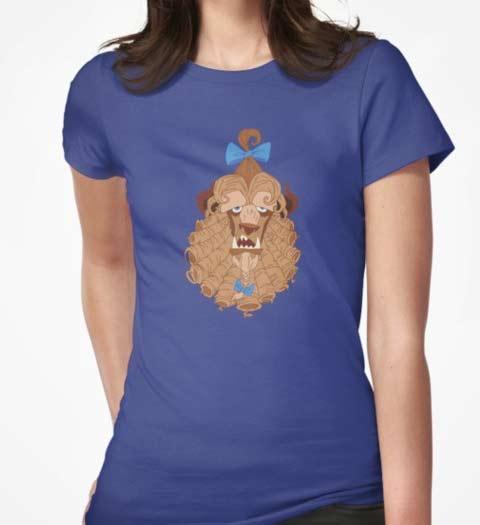 Funny Beast Hair: Beauty and the Beast Tshirt