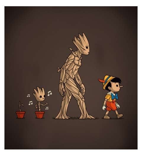 Groot Grows Up! Funny Disney Shirt