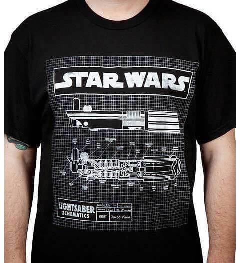 Lightsaber Schematic: Star Wars Shirts