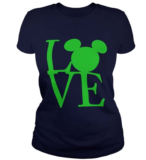 Love! Mickey Mouse Ears Shirt for Ladies