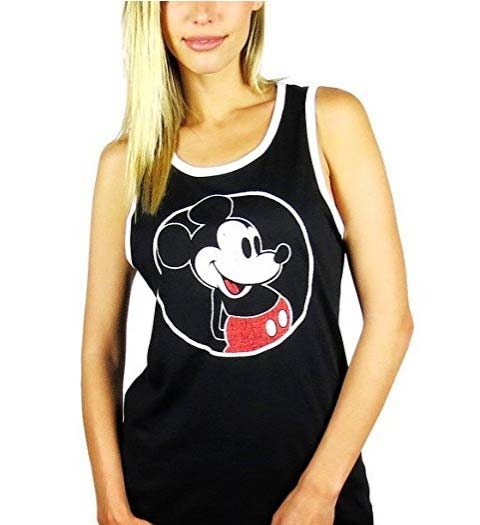 Casual Mickey Mouse Tank Top for Ladies