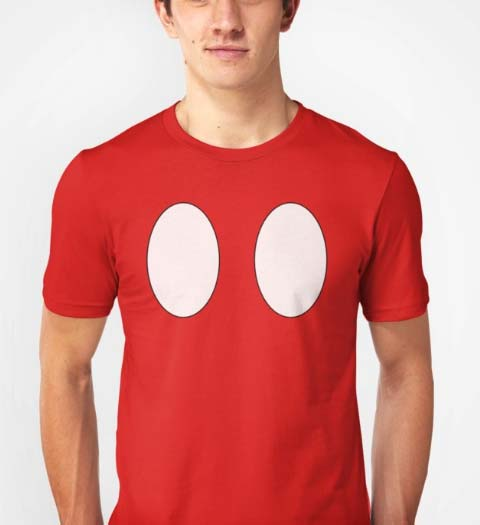 Mickey Mouse Red Pants Shirt