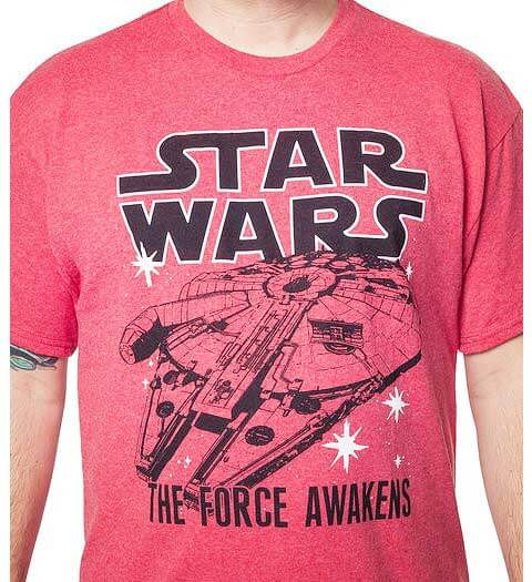 Red Millennium Falcon: Star Wars shirts