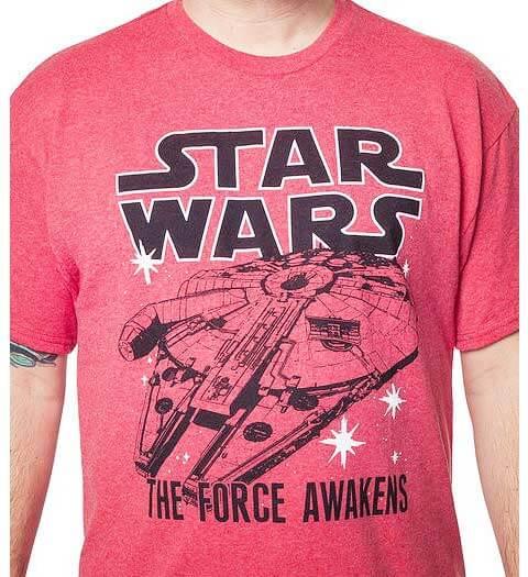 Red Millennium Falcon: Star Wars shirts