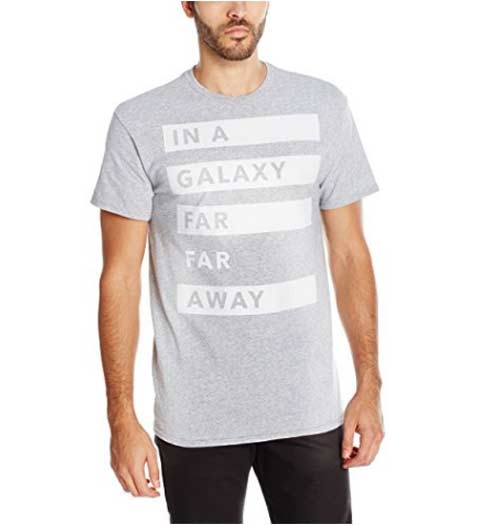 In a Galaxy Far Far Away shirt