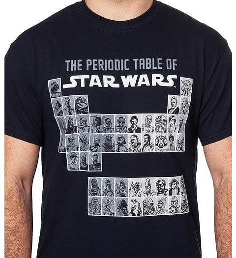 Periodic Table of Star Wars Shirt
