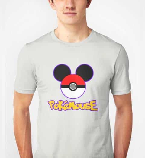 Pokemon Mickey Mouse Tshirt