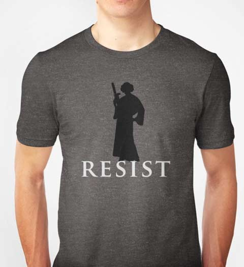 Resist: Princess Leia Star Wars Shirt