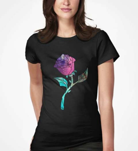 Beauty and the Beast Rose Shirt