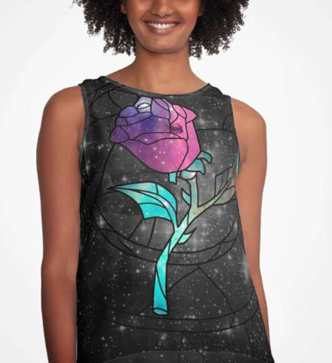 Rose Tank Top: Beauty and the Beast