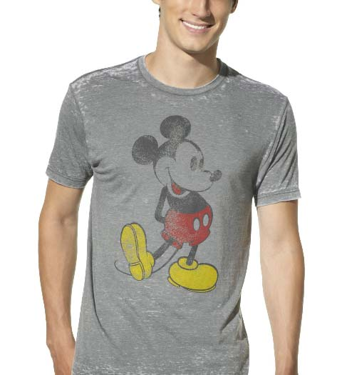 Velour Mickey Mouse Shirt for Men