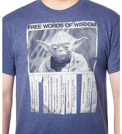 Yoda Words of Wisdom Shirt
