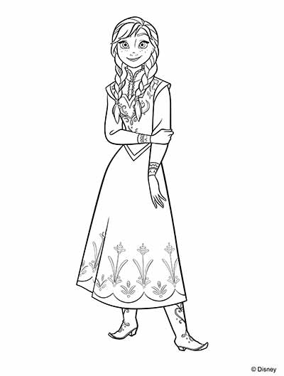 UPDATED 101 Frozen Coloring Pages + Frozen 2 Coloring Pages