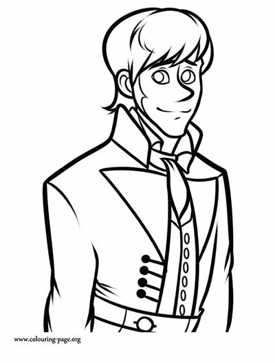 Hans Coloring Pages from Frozen