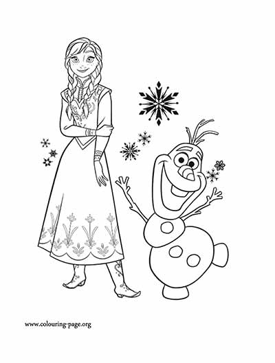 Anna Coloring Pages from Frozen
