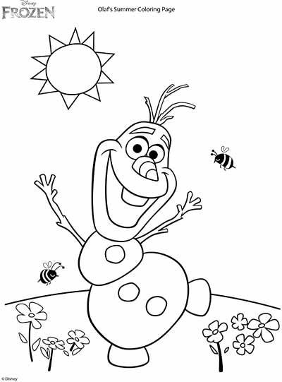 Nice Frozen Coloring Pages