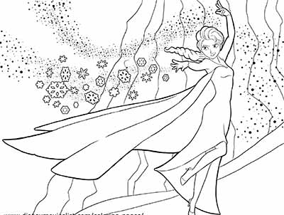 Princess Elsa Frozen Coloring Pages